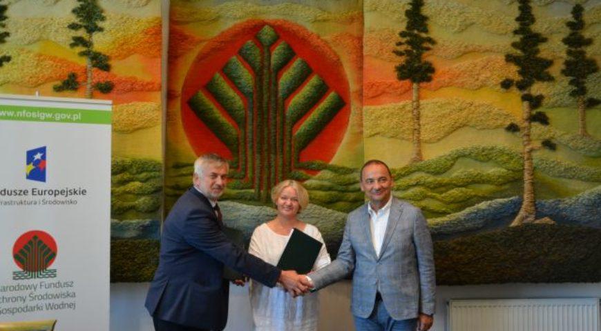 Podpisanie umowy z NFOŚiGW